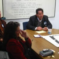 Patrick Piazza leads a focus group