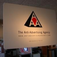 Anti-Advertising Agency interior sign