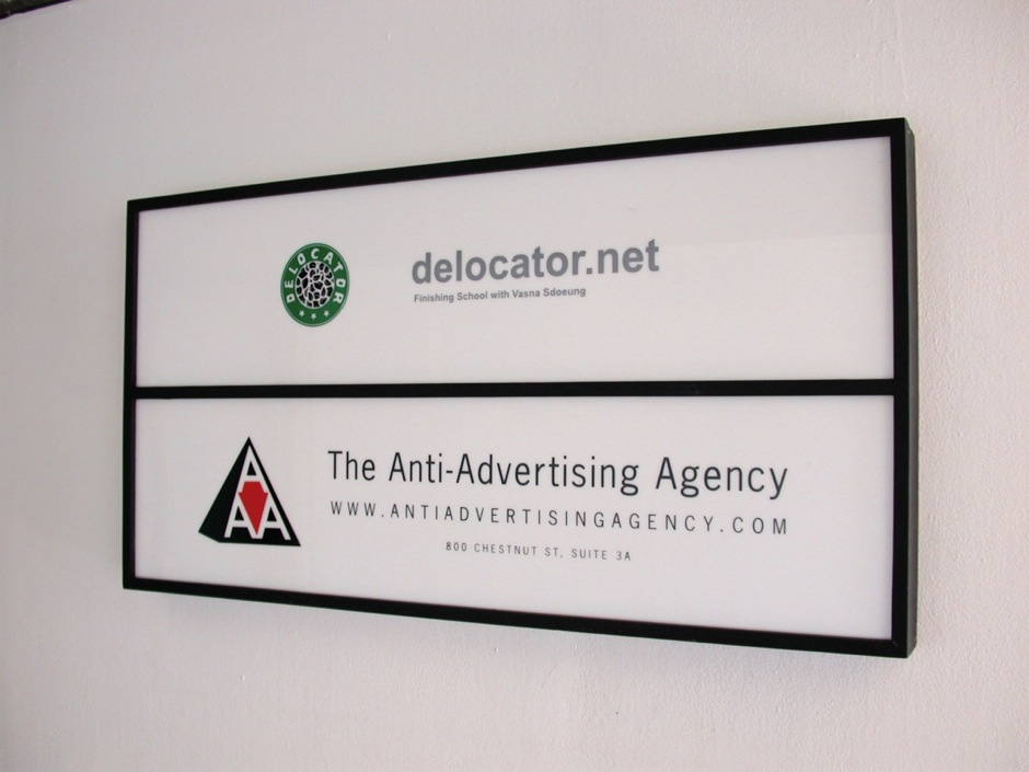anti advertising agency exterior sign anti advertising agency office