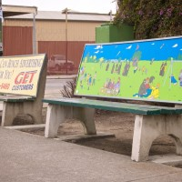 Anti-Advertising Agency Bus Stop Bench