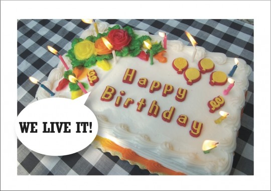 We Live It - Birthday Cake