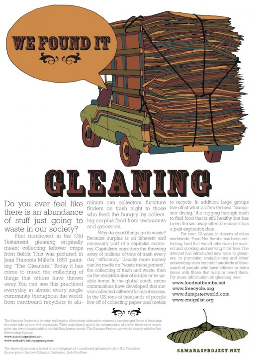 Gleaning Poster by Josh MacPhee