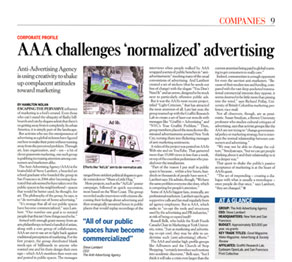 PRWeek Anti Advertising Agency article