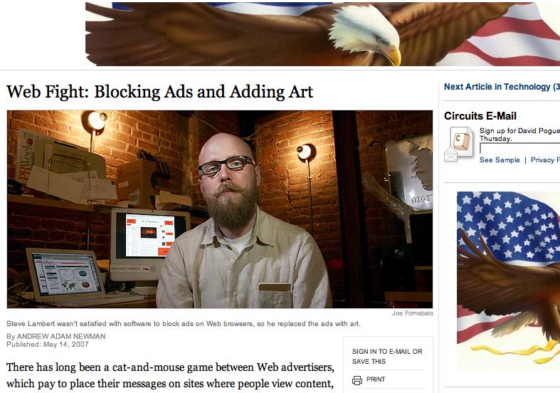 NY Times screenshot