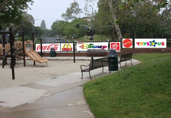 Playground at Holmby Park (Signs added)